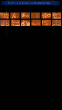 Vorschau der mobilen Webseite www.tilo-steffens.de, Tilo Steffens Bühnen- und Kostümbildner