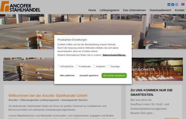 Vorschau von www.ancofer.de, Ancofer Stahlhandel GmbH