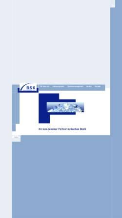 Vorschau der mobilen Webseite www.bremer-stahlkontor.de, BSK Bremer StahlKontor GmbH