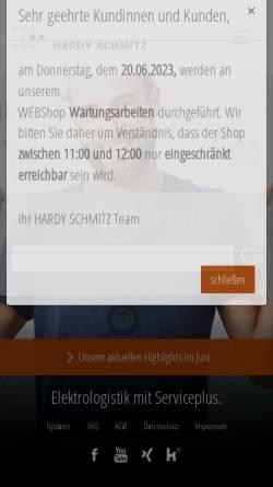 Vorschau der mobilen Webseite www.hardy-schmitz.de, Hardy Schmitz GmbH & Co. KG