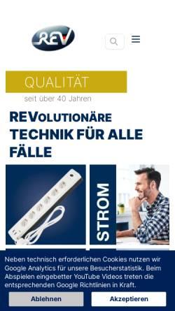 Vorschau der mobilen Webseite www.rev.de, REV Ritter GmbH