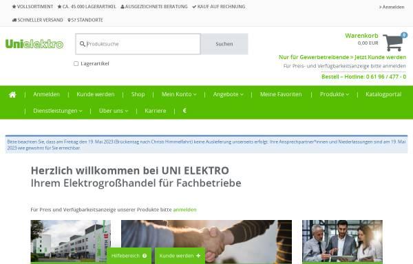 Vorschau von www.unielektro.de, Ströbelt GmbH & Co. KG Elektrogroßhandel