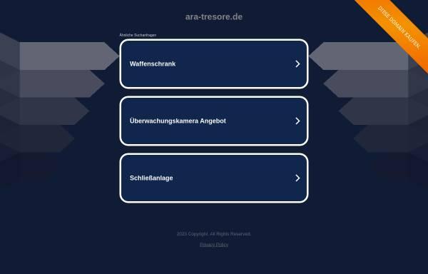 Vorschau von www.ara-tresore.de, ARA Tresor-Fachhandel GmbH