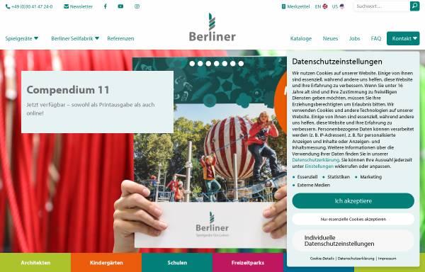 Vorschau von www.berliner-seilfabrik.com, Berliner Seilfabrik