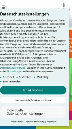 Vorschau der mobilen Webseite www.berliner-seilfabrik.com, Berliner Seilfabrik