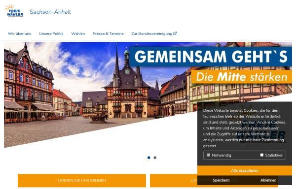 Vorschau von www.freie-waehler-lsa.de, Freie Wähler Sachsen-Anhalt