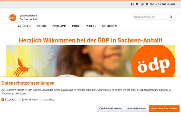 Vorschau von www.oedp-sachsen-anhalt.de, ÖDP Sachsen-Anhalt