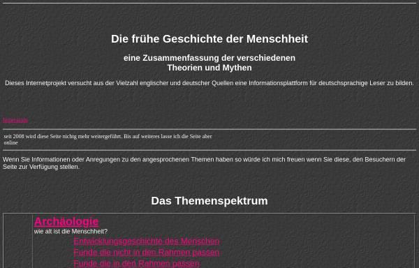 Vorschau von www.earlyworld.de, Alternative Frühgeschichte