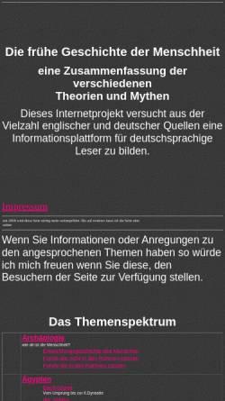 Vorschau der mobilen Webseite www.earlyworld.de, Alternative Frühgeschichte