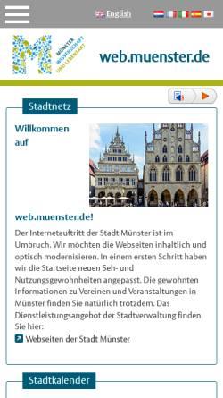 Vorschau der mobilen Webseite www.muenster.de, Mit Jeans in die Steinzeit