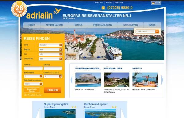 Vorschau von www.kroatien-adrialin.de, Adrialin GmbH