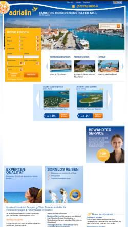 Vorschau der mobilen Webseite www.kroatien-adrialin.de, Adrialin GmbH