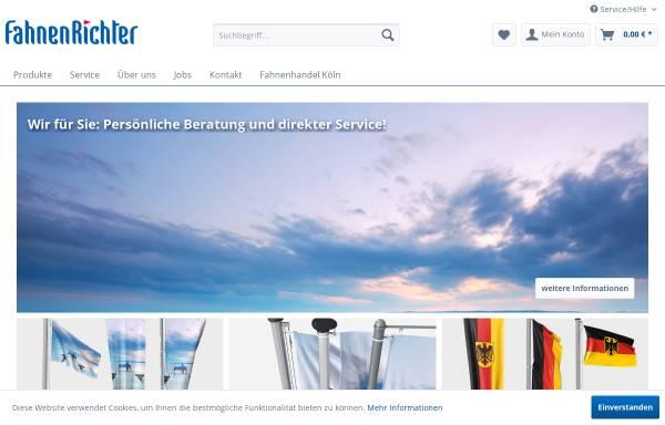 Vorschau von www.fahnenrichter.de, Fahnen Richter