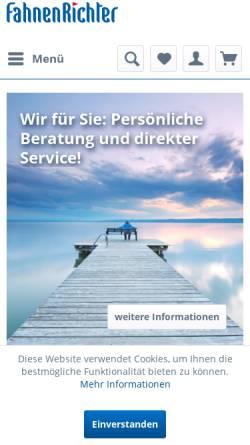 Vorschau der mobilen Webseite www.fahnenrichter.de, Fahnen Richter