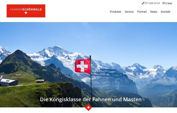 Vorschau von www.fahnen-schoenwald.ch, Schönwald Fahnen