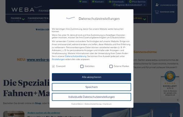 Vorschau von www.webafahnen.de, WEBA-Fahnen