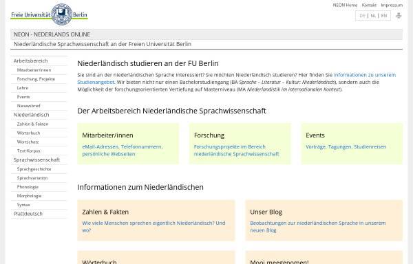 Vorschau von neon.niederlandistik.fu-berlin.de, Neon - Nederlands Online