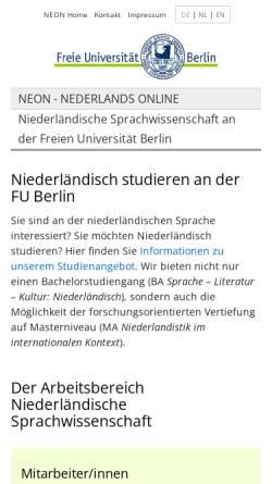 Vorschau der mobilen Webseite neon.niederlandistik.fu-berlin.de, Neon - Nederlands Online