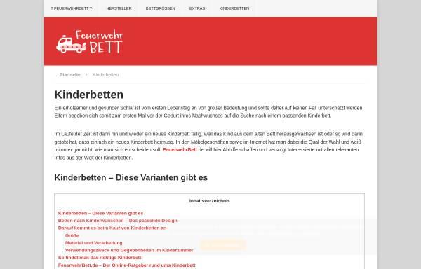 Vorschau von www.meinkinderbett.de, Meinkinderbett.de, Paul Harris und Renate Messall