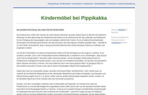 Vorschau von www.pippikakka.de, Pippikakka Kindermöbel