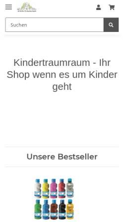 Vorschau der mobilen Webseite www.kindertraumraum.de, SRSS Limited