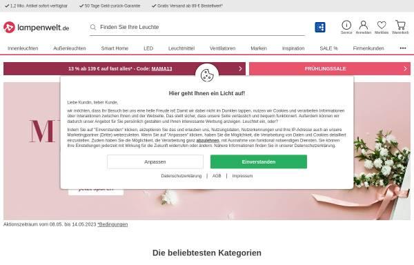 Vorschau von www.lampenwelt.de, Lampenwelt GmbH