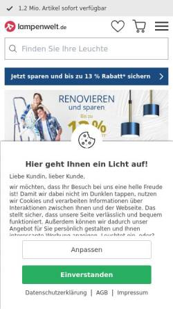 Vorschau der mobilen Webseite www.lampenwelt.de, Lampenwelt GmbH