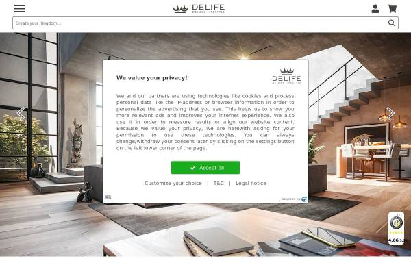 Vorschau von www.delife.eu, DeLife GmbH