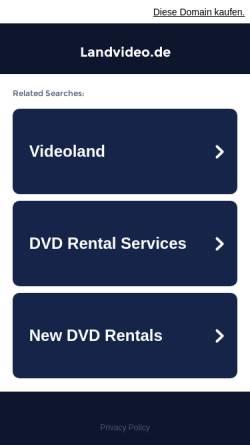 Vorschau der mobilen Webseite www.landvideo.de, Landvideo