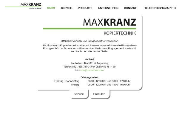 Vorschau von www.kranz.de, Max Kranz