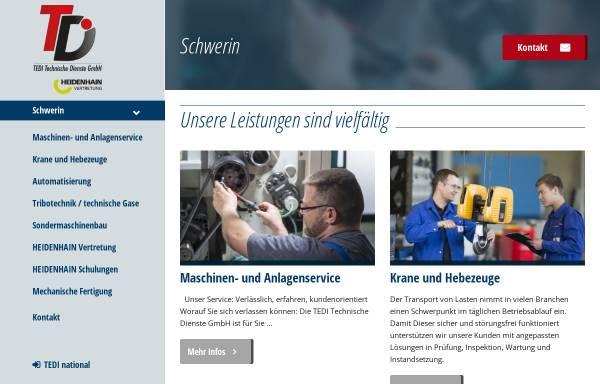 Vorschau von www.tedi-online.com, Kran- und Transport GmbH
