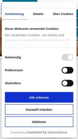 Vorschau der mobilen Webseite www.medfachschule.de, Medizinische Berufsfachschule Bad Elster GmbH