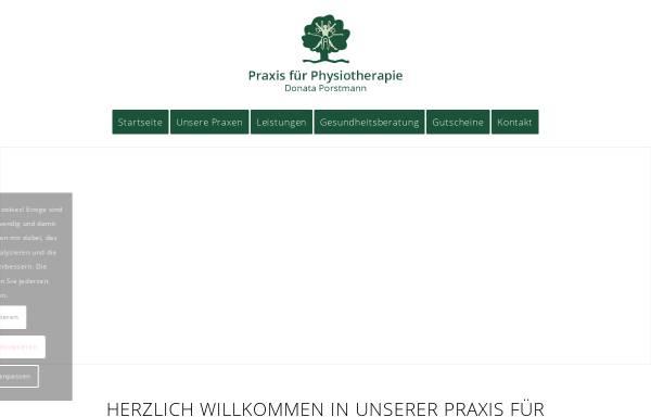Vorschau von www.physiotherapie-porstmann.de, Praxis für Physiotherapie - Donata Porstmann