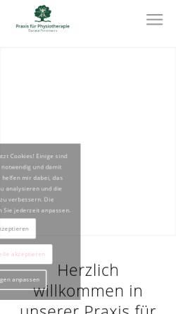 Vorschau der mobilen Webseite www.physiotherapie-porstmann.de, Praxis für Physiotherapie - Donata Porstmann