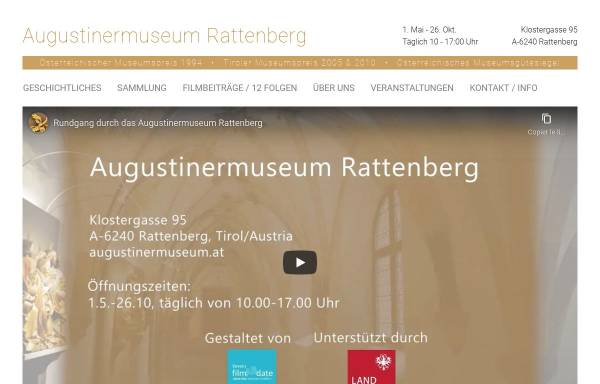 Vorschau von augustinermuseum.at, Augustinermuseum Rattenberg