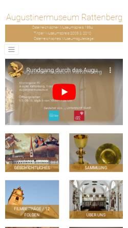 Vorschau der mobilen Webseite augustinermuseum.at, Augustinermuseum Rattenberg