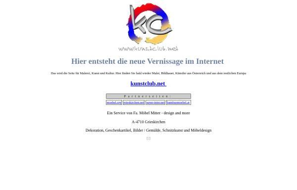 Vorschau von www.kunstclub.net, Kunst und Kultur: Werke oberösterreichischer Künstler