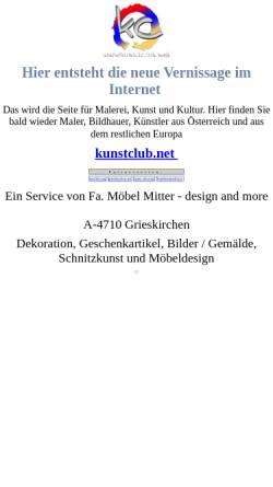 Vorschau der mobilen Webseite www.kunstclub.net, Kunst und Kultur: Werke oberösterreichischer Künstler