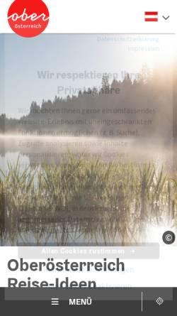 Vorschau der mobilen Webseite www.oberoesterreich.at, Oberösterreichische Landesausstellung 2002