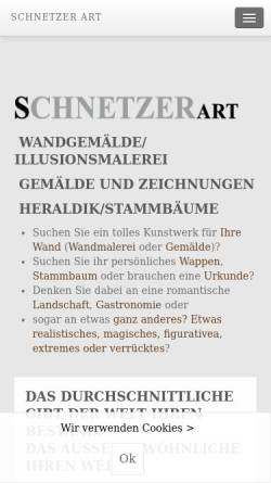 Vorschau der mobilen Webseite www.schnetzer-art.at, Wandmalerei - Heraldik Schnetzer