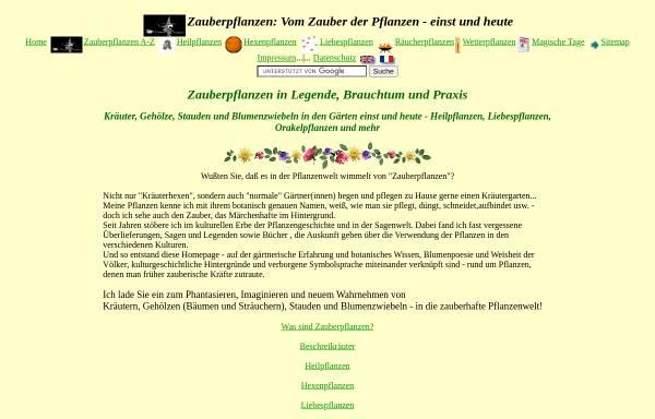 Vorschau von www.zauber-pflanzen.de, Zauber-Pflanzen.de