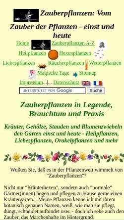 Vorschau der mobilen Webseite www.zauber-pflanzen.de, Zauber-Pflanzen.de
