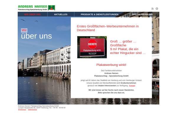 Vorschau von www.hansen-plakat.de, Andreas Hansen Plakatanschlag - Spezialwerbung GmbH