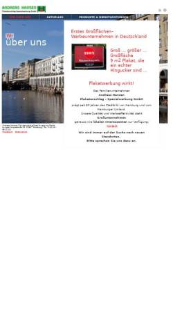 Vorschau der mobilen Webseite www.hansen-plakat.de, Andreas Hansen Plakatanschlag - Spezialwerbung GmbH
