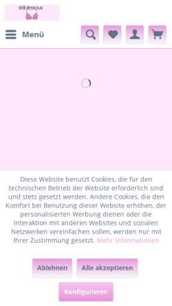 Vorschau der mobilen Webseite www.stilldessous.com, Luzie Lus Lingerie, Christine Jerxsen