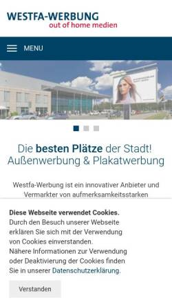 Vorschau der mobilen Webseite www.westfa-werbung.de, Westfa-Werbung Modersohn GmbH & Co. KG