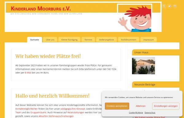 Vorschau von www.kinderland-moorburg.de, Kinderland Moorburg e.V.