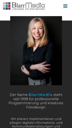 Vorschau der mobilen Webseite www.blarrmedia.de, A&T Blarr Software