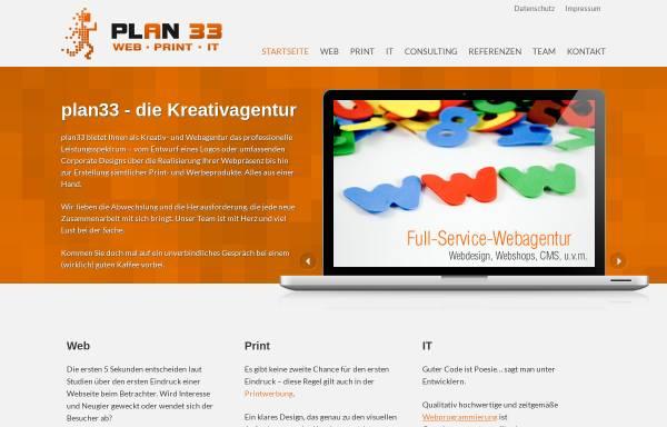 Vorschau von www.plan33.de, Plan33 Götz Burger und Rolf Hillen GbR