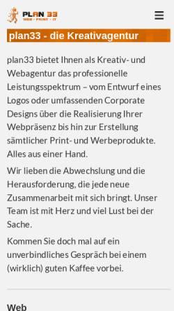 Vorschau der mobilen Webseite www.plan33.de, Plan33 Götz Burger und Rolf Hillen GbR